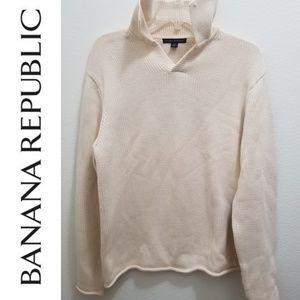BANANA REPUBLIC Cream Cotton Sweater